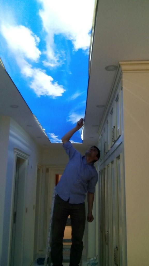 Gergi tavan uygulama örneği